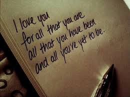 i love you for all that you are