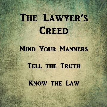 lawyer's creed