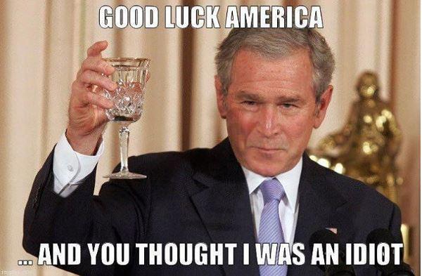 bush-being-an-idiot