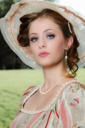 Victorian tea party portrait