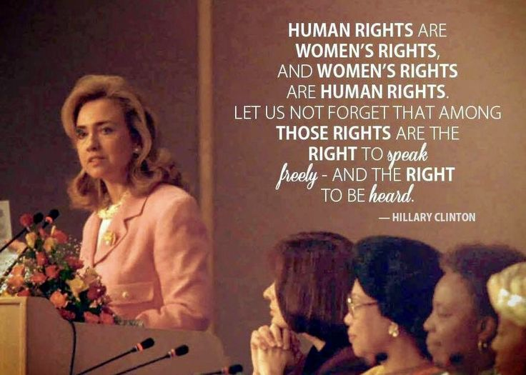 hillary humans rights are womens rights