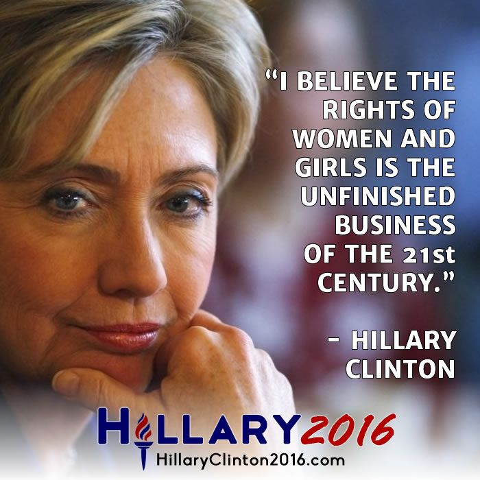 "Why women love Hillary Rodham Clinton? – ""Women's rights are human rights and human rights are women'srights""!"