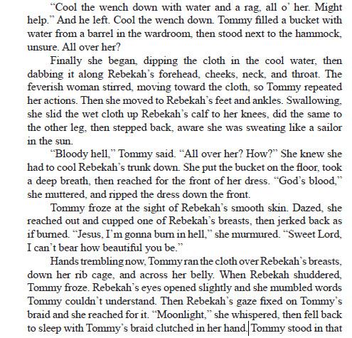 Tommy washing Rebekah