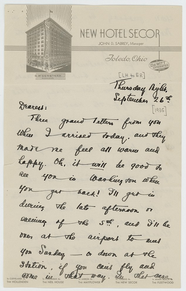 eleanor roosevelt letter to lorena hickok2