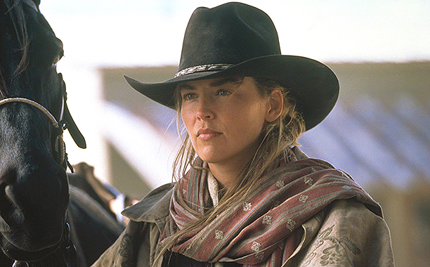 sharon stone with horse in quick and the death as djara